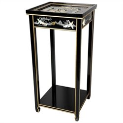 Oriental Furniture Pedestal in Black