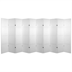Oriental Do It Yourself Canvas Room Divider with 10 Panel in White
