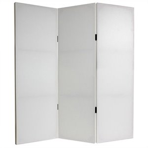 Oriental Do It Yourself Canvas Room Divider with 3 Panel in White