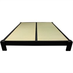 Oriental Furniture Tatami Platform Bed in Black - California King
