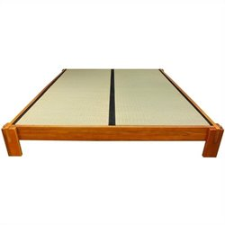 Oriental Furniture Tatami Platform Bed in Honey - California King