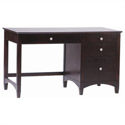 Bolton Furniture Essex Pedestal Desk in Espresso