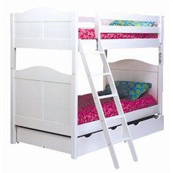 Bolton Furniture Wakefield Cottage Twin Over Twin Bunk Bed in White