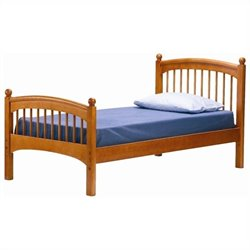 Bolton Furniture Essex Windsor Twin Bed in Honey