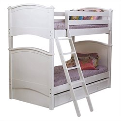 Bolton Furniture Essex Cooley Twin Bunk Bed in White