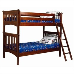 Bolton Furniture Mission Twin Bunk Bed in Cherry
