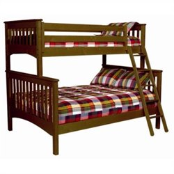 Bolton Furniture Mission Twin Over Full Bunk Bed in Cherry