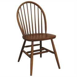 Bolton Furniture Woodridge Bow Back Kids Chair in Chestnut Finish