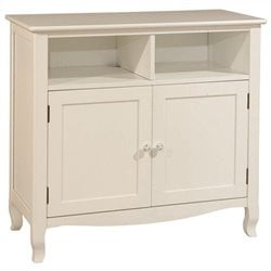 Bolton Furniture Emma Media Storage Cabinet in White