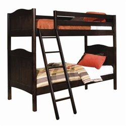 Bolton Furniture Wakefield Cottage Twin Bunk Bed in Espresso