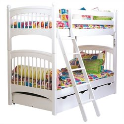 Bolton Furniture Essex Windsor Twin over Twin Bunk Bed in White