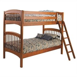 Bolton Furniture Essex Windsor Twin over Twin Bunk Bed in Honey