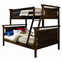 Bolton Furniture Wakefield Bennington Twin Over Full Bunk Bed in Espresso