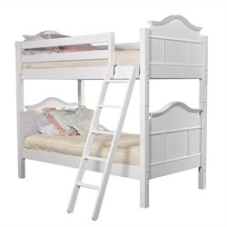 Bolton Furniture Emma Twin Bunk Bed in White