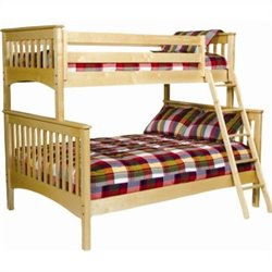 Bolton Furniture Mission Twin Over Full Bunk Bed in Natural