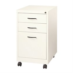 Hirsh SOHO 3 Drawer Filing Cabinet in White