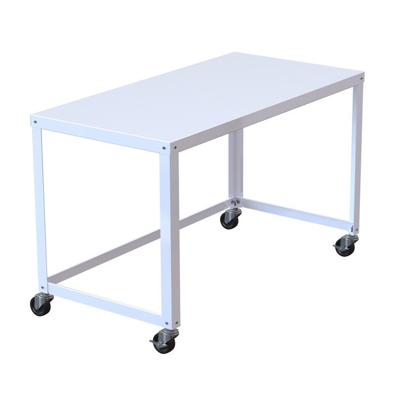 Office Dimensions 48 Quot Mobile Desk In White 21114