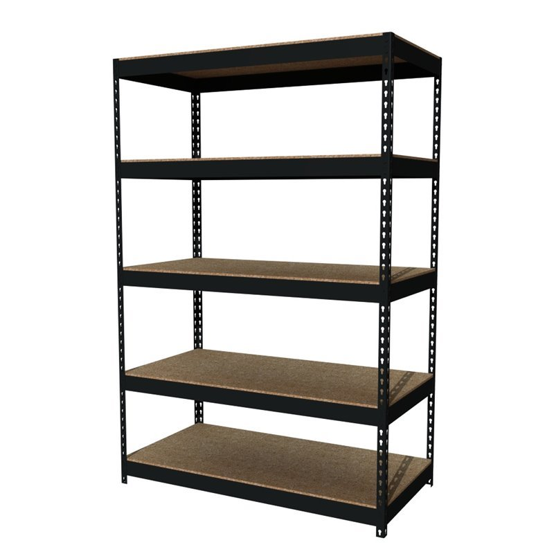 Hirsh Rivet Shelving 48x72 Heavy Duty 5 Shelf Storage Unit