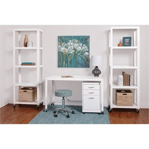 Hirsh Industries 2 Piece Office Set in White
