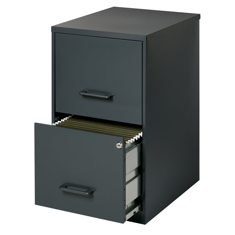Value Pack (Set of 2) Drawer Letter File Cabinet in Black and Putty