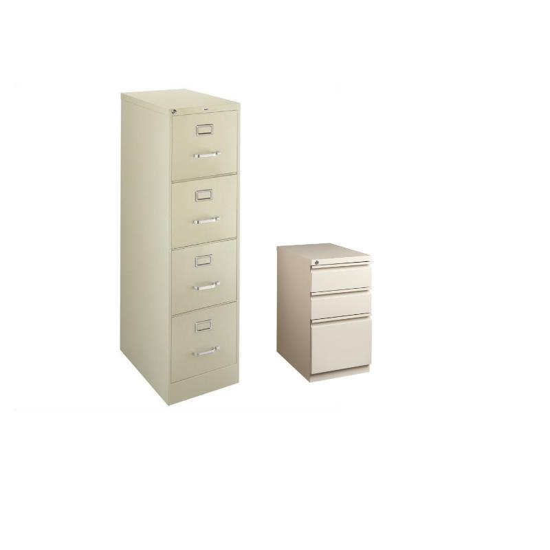 Set of 2 Value Pack 4 and 3 Drawer Mobile Filing Cabinet