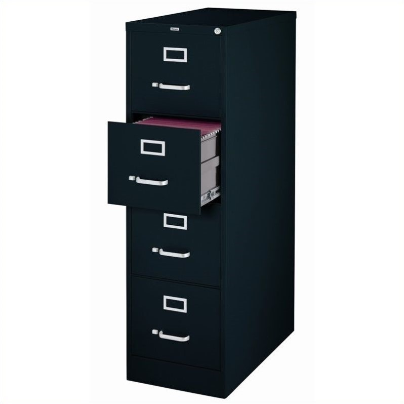 Set of 2 Value Pack Four and Three Drawer Filing Cabinets in Black