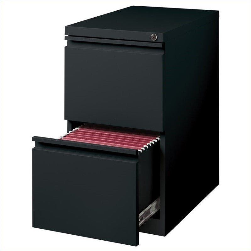 2 Piece Value Pack Mobile Filing Cabinet in Med Tone and Black