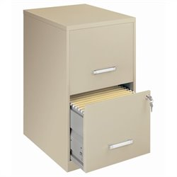 Hirsh Industries LLC SOHO 2 Drawer Letter File Cabinet in Putty