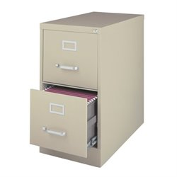 Hirsh Industries 2500 Series 2 Drawer Letter File Cabinet in Putty