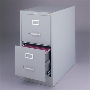 2 Drawer Letter File Cabinet in Gray