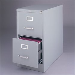 Hirsh Industries 2500 Series 2 Drawer Letter File Cabinet in Gray