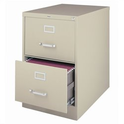 Hirsh Industries 2500 Series 2 Drawer Legal File Cabinet in Putty