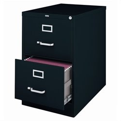 Hirsh Industries 2500 Series 2 Drawer Legal File Cabinet in Black