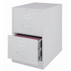 Hirsh Industries 2500 Series 2 Drawer Legal File Cabinet in Gray