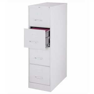 4 Drawer Letter File Cabinet in Gray