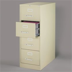 Hirsh Industries 2500 Series 4 Drawer Legal File Cabinet in Putty