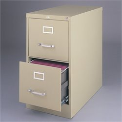 Hirsh Industries 2 Drawer Letter File Cabinet in Putty