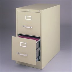 Hirsh Industries 3000 Series 2 Drawer Letter File Cabinet in Putty