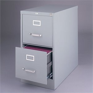 Hirsh Industries Vertical Files 2 Drawer Letter File Cabinet-SH