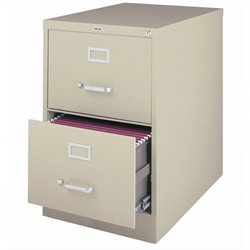 Hirsh Industries 3000 Series 2 Drawer Legal File Cabinet in Putty