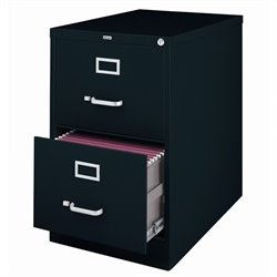 Hirsh Industries 3000 Series 2 Drawer Legal File Cabinet in Black