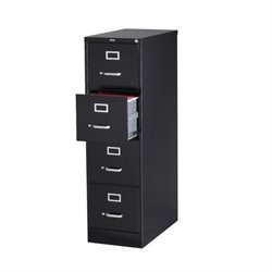 4 Drawer Letter File Cabinet in Black