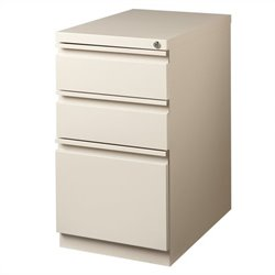 Hirsh Industries 3 Drawer Mobile File Cabinet File in Putty