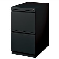 Hirsh Industries 2 Drawer Mobile File Cabinet File in Black