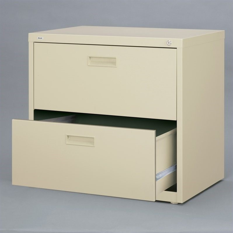 Hirsh Industries 1000 Series 2 Drawer Lateral File Cabinet in Putty