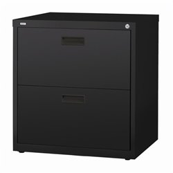 Hirsh Industries 1000 Series 2 Drawer Lateral File Cabinet in Black