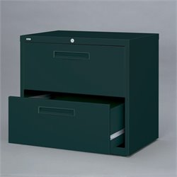 Hirsh Industries 5000 Series 2 Drawer Lateral File Cabinet in Black