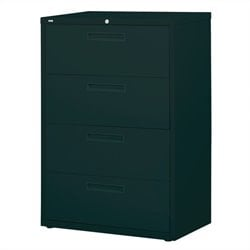 Hirsh Industries 5000 Series 4 Drawer Lateral File Cabinet in Black
