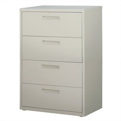 Hirsh Industries 5000 Series 4 Drawer Lateral File Cabinet in Gray