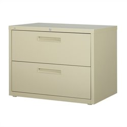 Hirsh Industries 5000 Series 2 Drawer Lateral File Cabinet in Putty